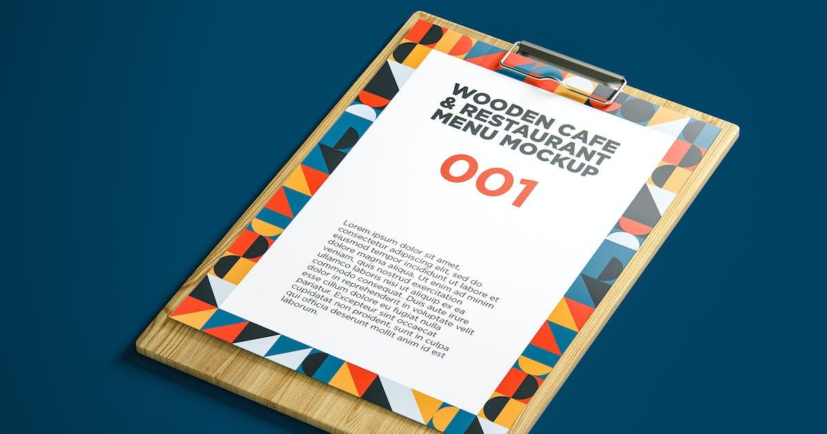 Download Wooden Cafe & Restaurant Menu Mockup 001 by traint