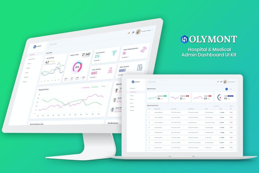 Holymont - Medical Admin Dashboard UI Kit
