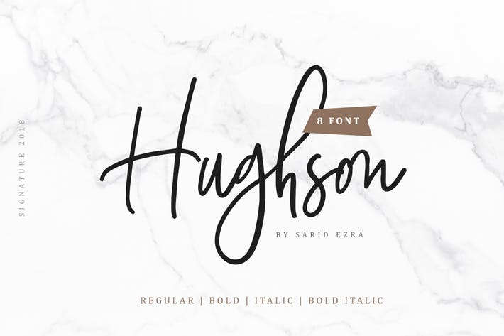Thumbnail for Hughson Script (8 Fonts)