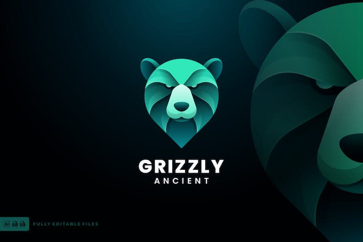 Grizzly Gradient Colorful Logo