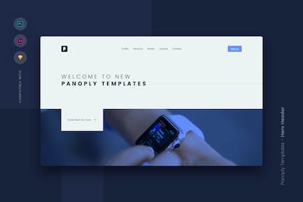 Web Templates UI Kit - Hero Header 4