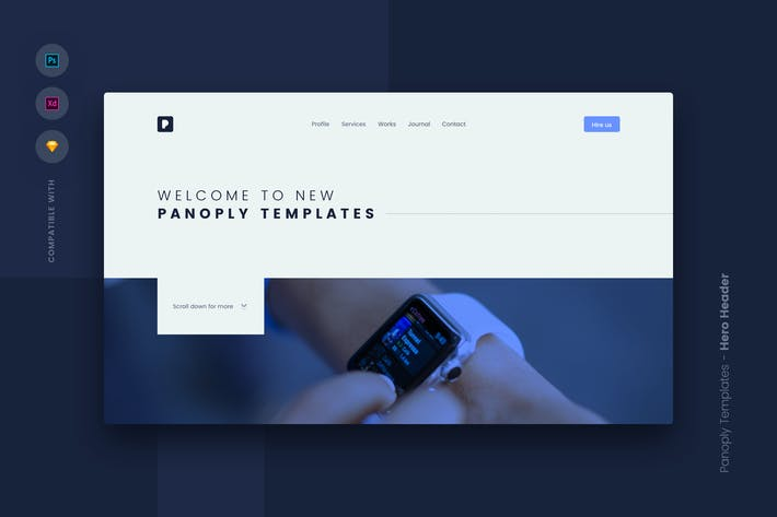 Thumbnail for Web Templates UI Kit - Hero Header 4