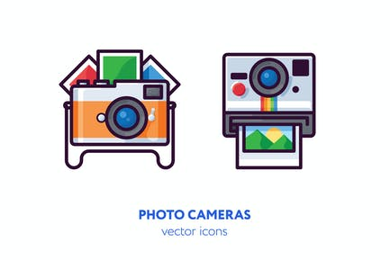Íconos de cámara fotográfica