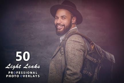 50 Light Leaks Photo Overlays