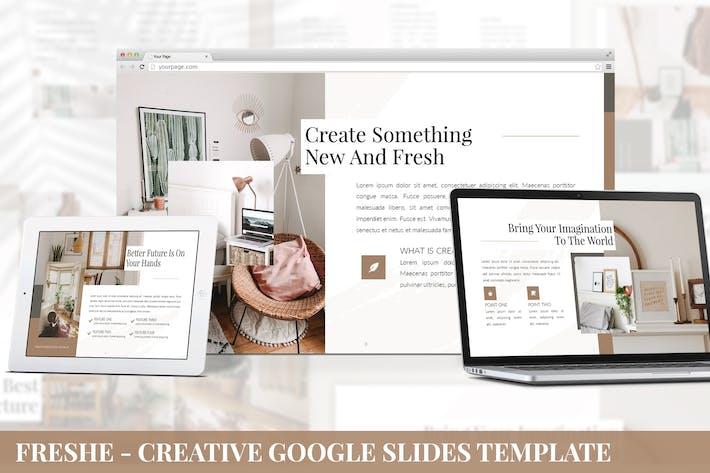 Cover Image For Freshe - Creative Google Slides Template