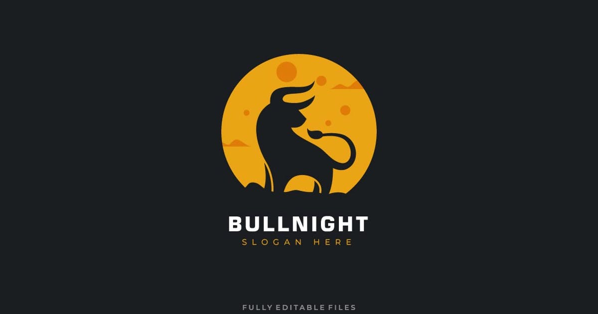 Download Bull and Moon Logo Template by ivan_artnivora