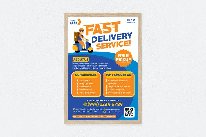 Thumbnail for Fast Delivery Service Poster