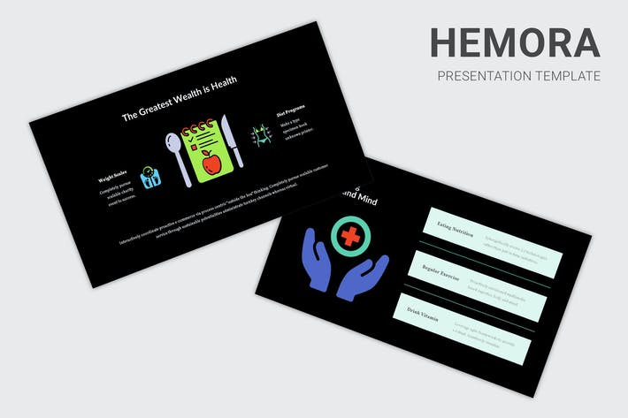 Thumbnail for Hemora - Healthcare Infographic Keynote