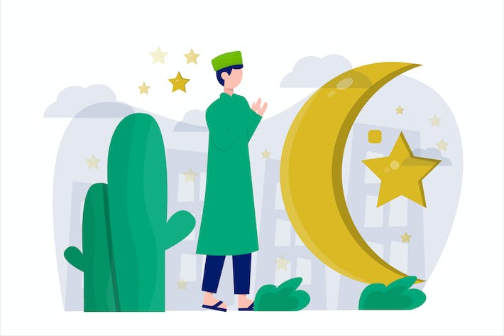 Thumbnail for Ramadan Kareem Flat Illustration