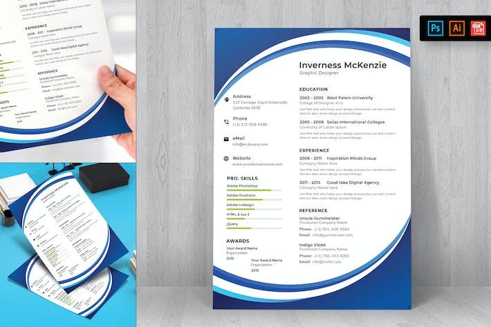 Thumbnail for Resume CV Template-48