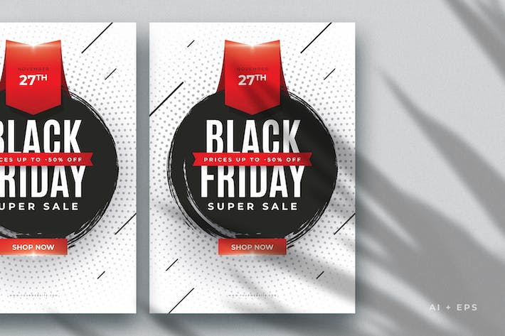 Thumbnail for Minimal Black Friday Sales Flyer