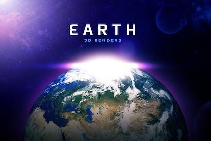 Beautiful 3D Earth Renders