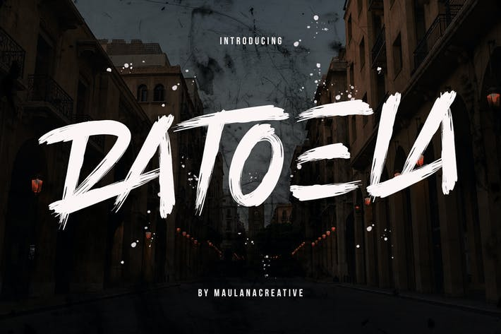 Thumbnail for Шрифт кисти Ratoela