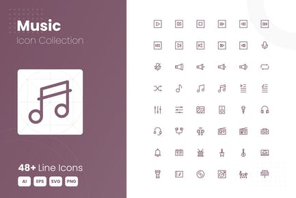 48 Music Icon Collection