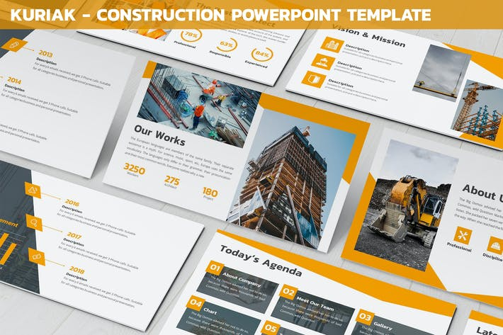 Thumbnail for Kuriak - Construction Powerpoint Vorlage