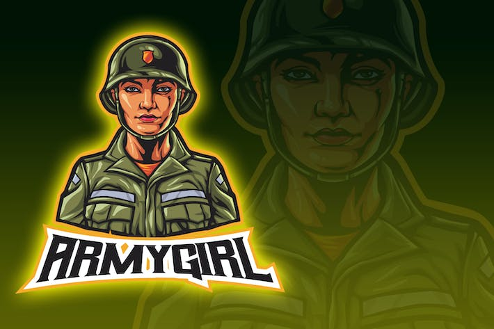 Thumbnail for Army Girl Esport Logo