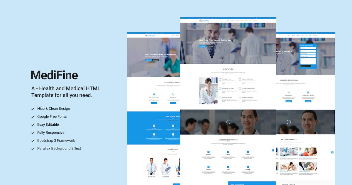 Download MediFine - Health and Medical WordPress Theme by shtheme