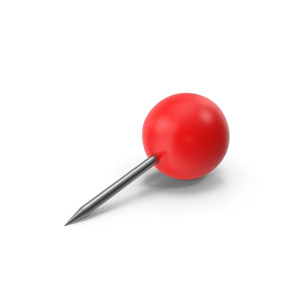 Thumbnail for Push Pin Sphere Red