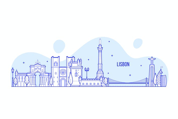 Thumbnail for Lisbon skyline, Portugal