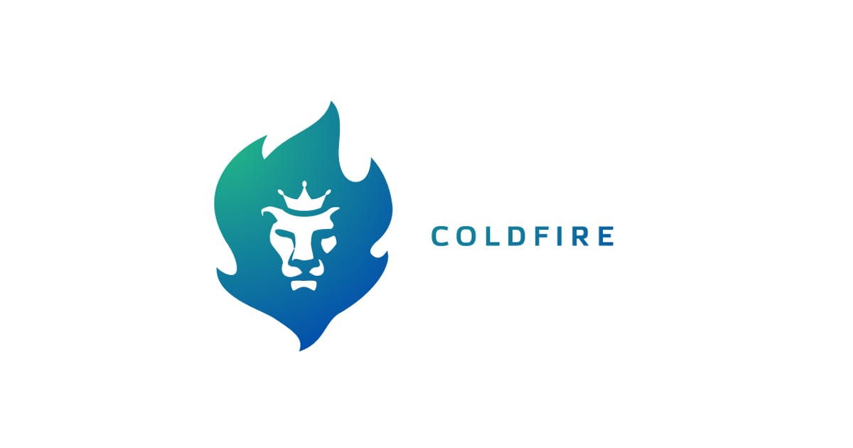 Download Coldfire - Crowned Lion Head Logo by Suhandi