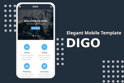 Digo - Elegant Mobile Template