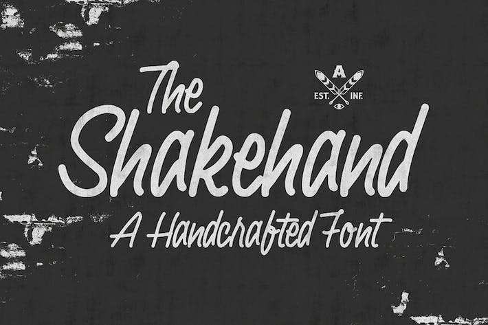 Thumbnail for Shakehand Typeface