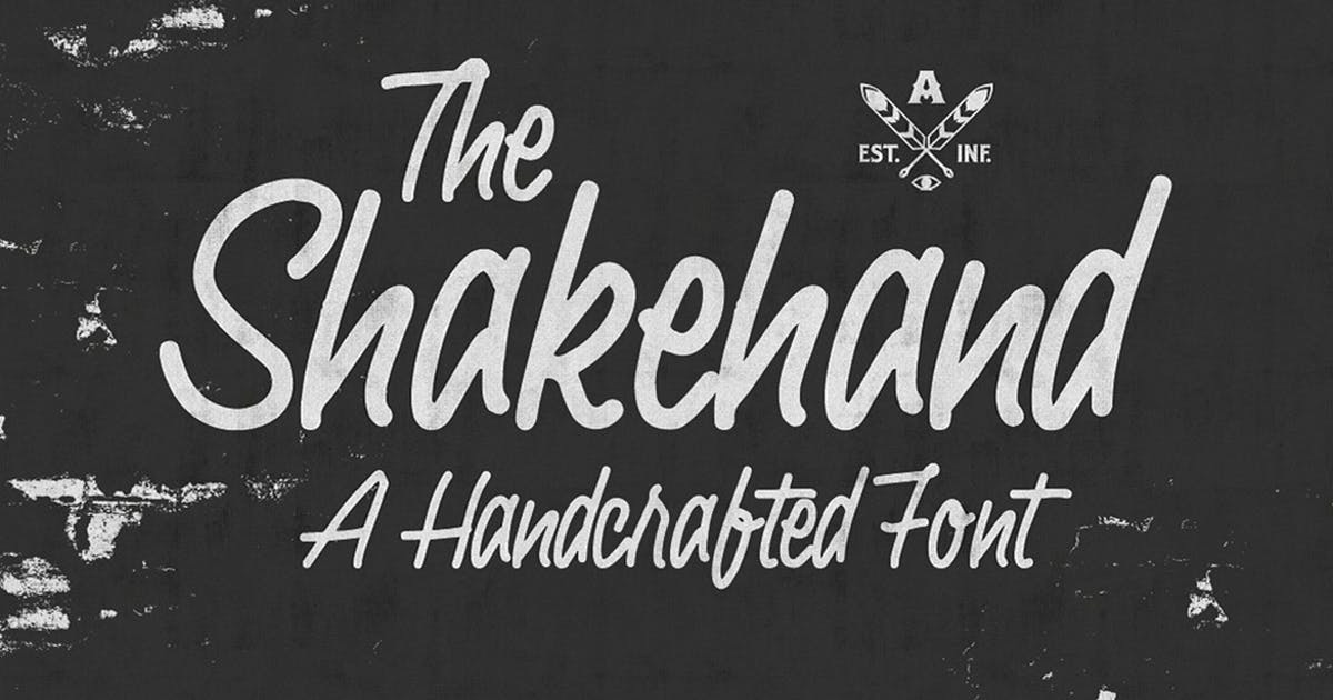 Download Shakehand Typeface by alterdecoinc