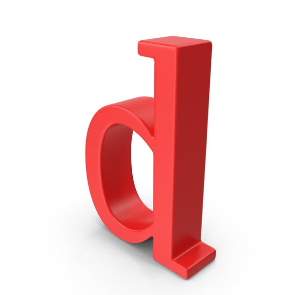 Red Small Letter D