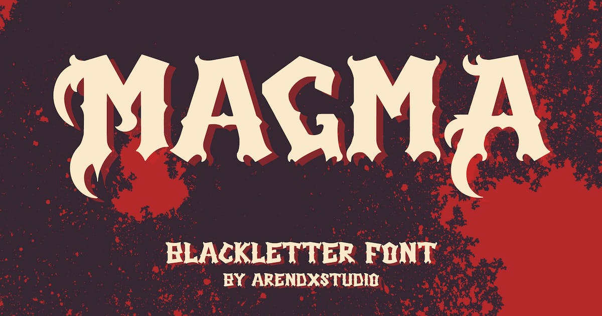 Download Magma - Blackletter by arendxstudio
