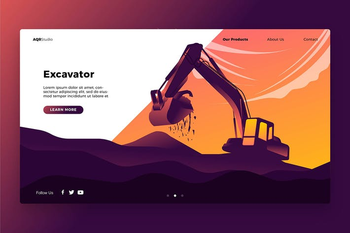 Thumbnail for Excavator - Banner & Landing Page