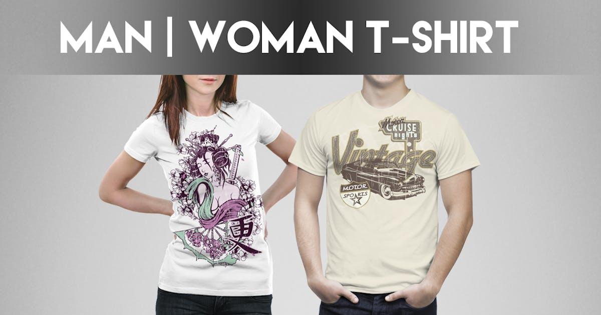Download Man / Woman T-shirt Mock-Up by Eugene-design