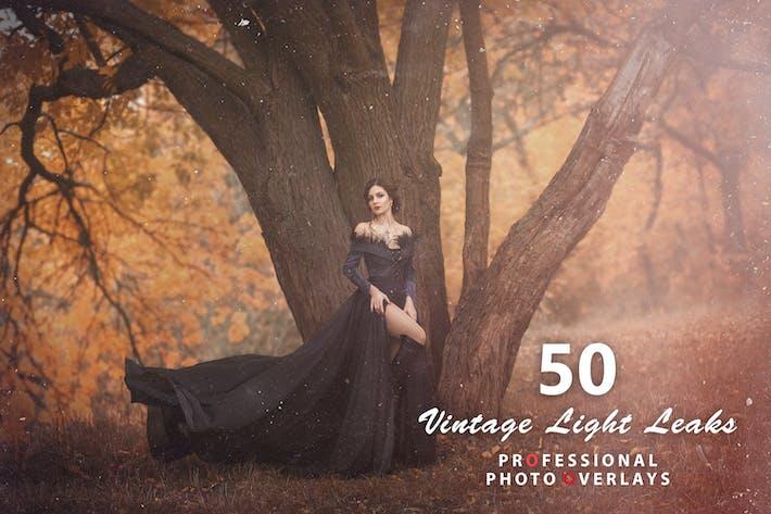 Thumbnail for 50 Vintage Light утечки Фото Наложения