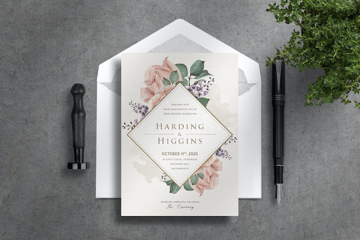 Cover Image For Deluxe Wedding Invitation