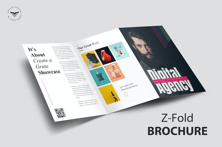 Thumbnail for Z-Fold Portfolio Brochure Template