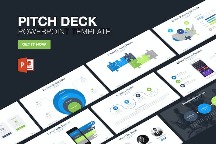Pitch Deck Powerpoint Template by slidefusion on Envato Elements