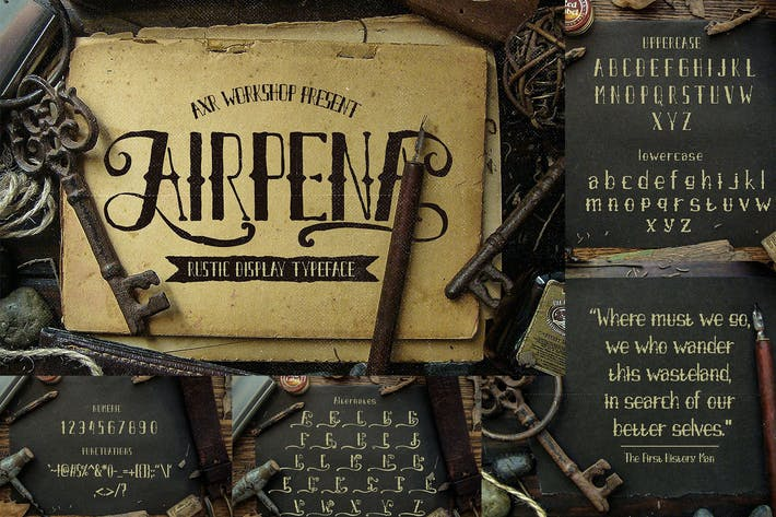 Thumbnail for Airpena Rustic Display Font
