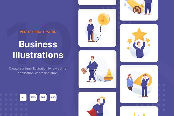 Thumbnail for Business Illustrations Scenes