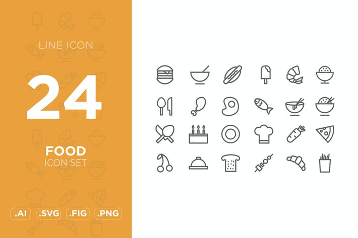 Thumbnail for food icon set