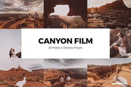 20 Canyon Film Lightroom Presets & LUTs