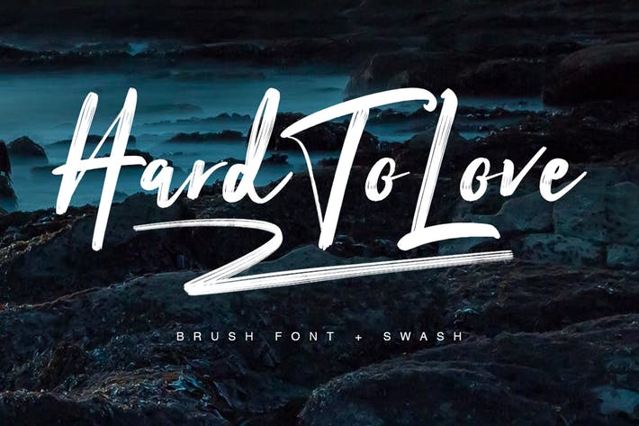 Cover Image For Hard To Love Typeface