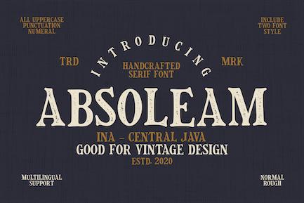 Absoleam Vintage Rough Font
