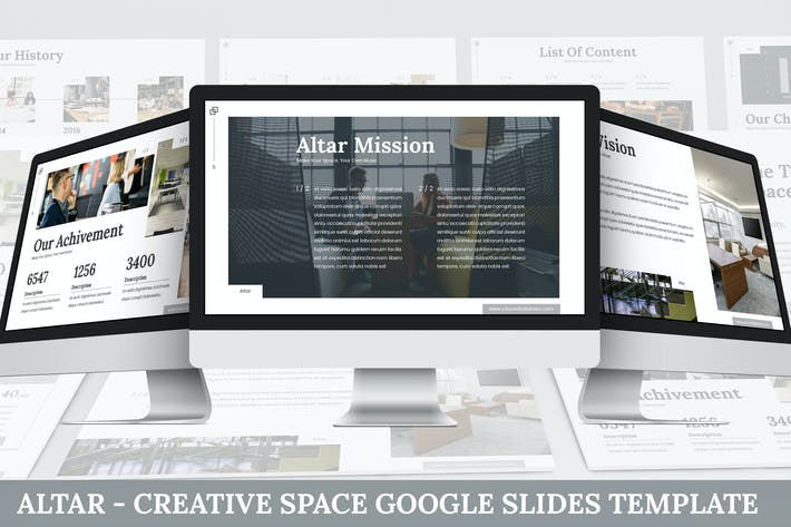 Thumbnail for Altar - Creative Space Google Slides Template