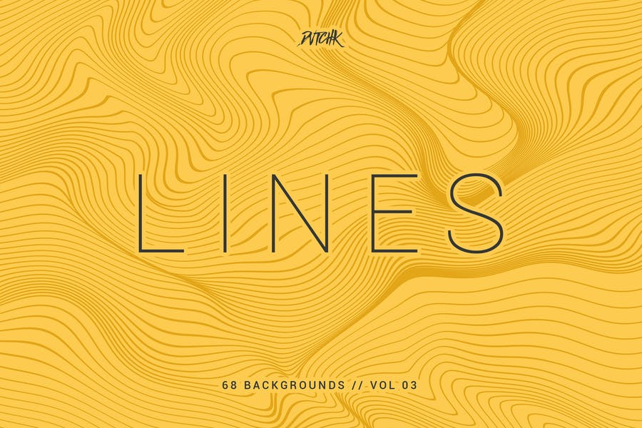 Lines   Abstract Wavy Backgrounds   Vol. 03