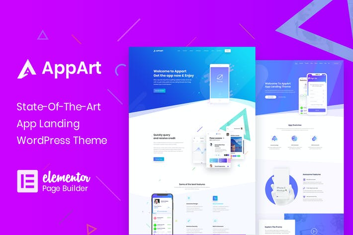 Thumbnail for AppArt - Creative WordPress Theme For Apps, Saas &