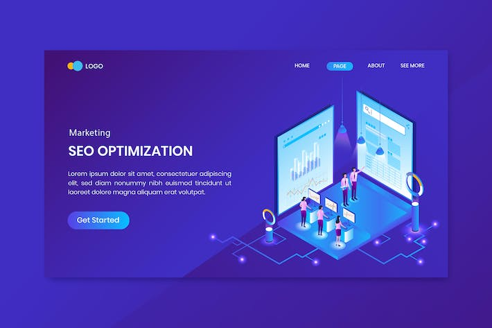 Thumbnail for Marketing Strategy Isometric Concept Landing Page