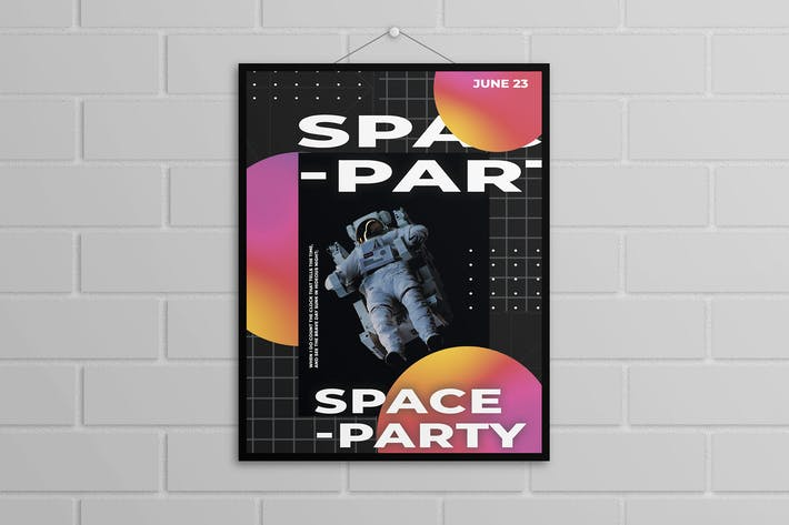 Thumbnail for Astronaut Poster Template