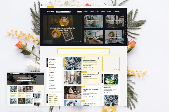 Quemag – Magazine WordPress Theme for Bloggers
