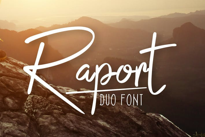 Thumbnail for Raport Duo Font