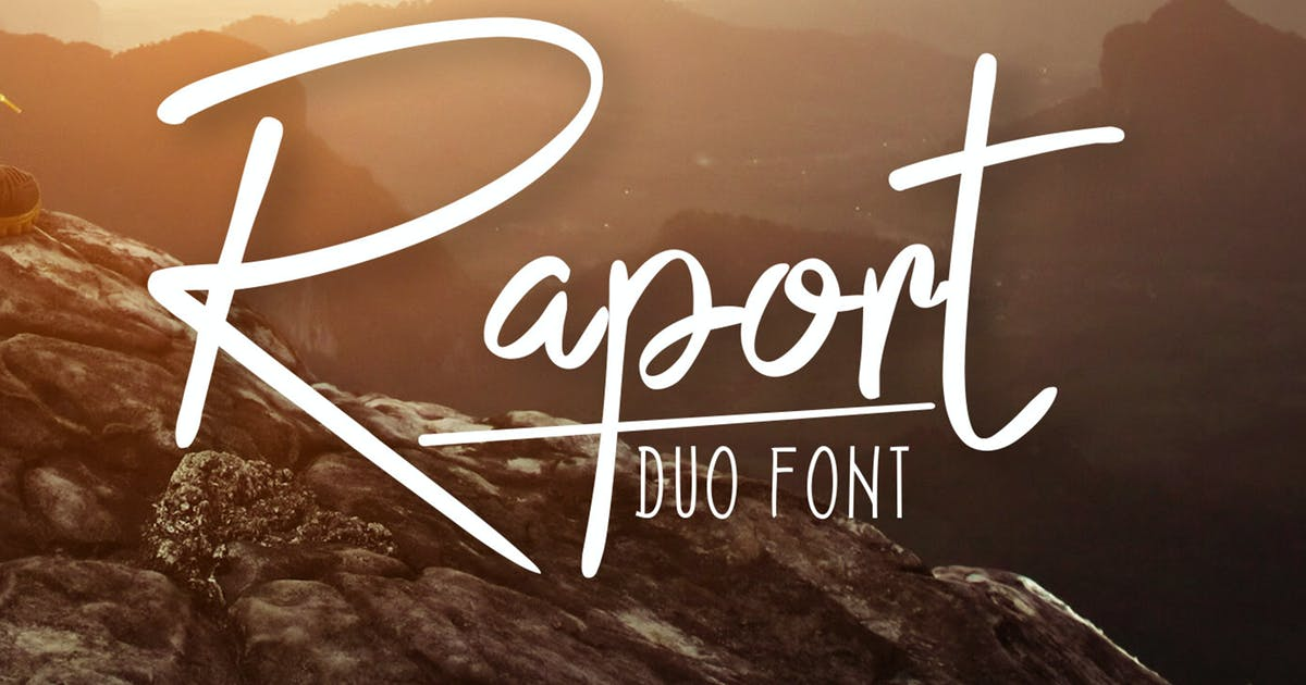Raport Duo Font by khurasan