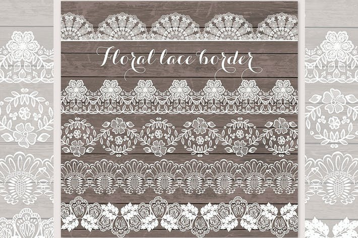 Thumbnail for Lace border rustic